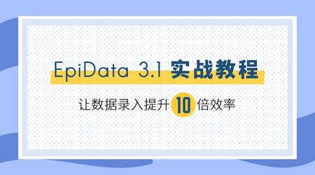 EpiData 3.1 实战教程