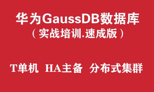 华为高斯GaussDB数据库实战培训(速成版)