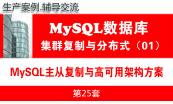MySQL DBA数据库工程师培训视频专题(1.0版)