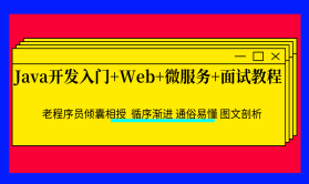Java开发入门+Web+微服务+面试教程(持续更新)