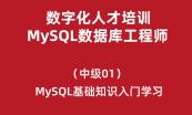 数字化人才培训-MySQL数据库工程师(初级)